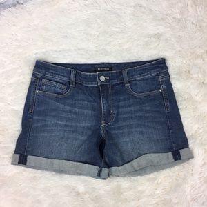 White House black-market cuffed denim shorts 8